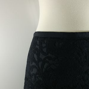 Skirt: Short Lacy Skirt with Liner and Overlay